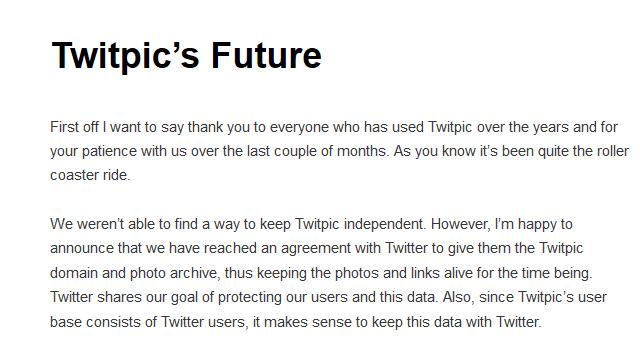 Twitpic's Future | Twitpic Blog