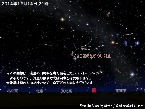 2014年12月14日 ふたご座流星群が極大