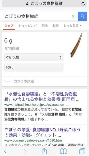 Google検索-ごぼうの食物繊維