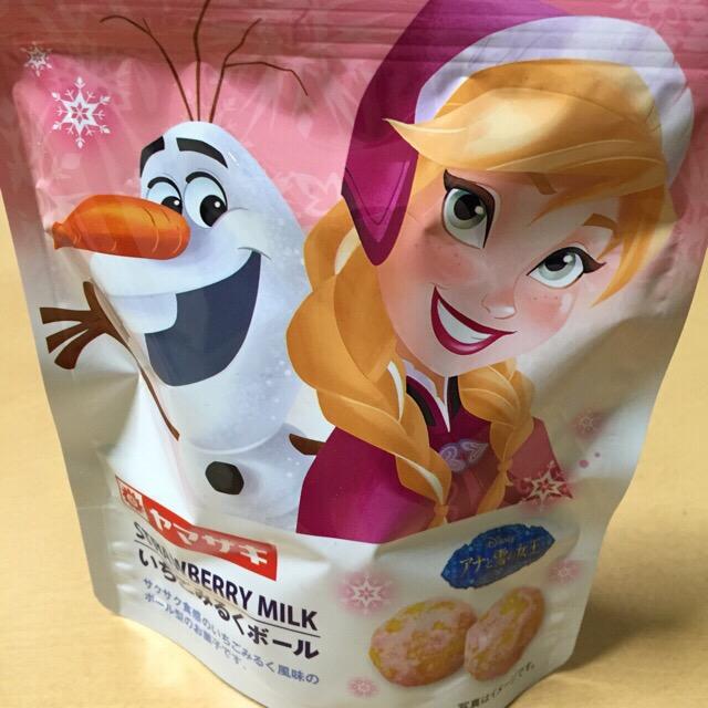 ヤマザキ ディズニー アナと雪の女王 いちごみるくボール